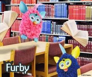 puzzel Furbys in de bibliotheek