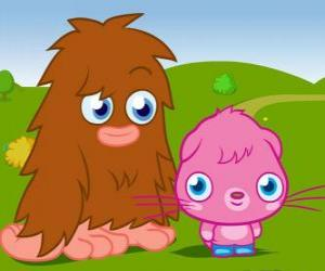 puzzel Furi en Poppet, twee leuke monster Moshi Monsters