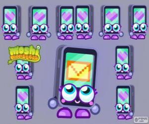 puzzel Gabby is een van de Moshlings, de vorm van een iPhone of een iPad. Tecno serie