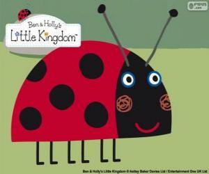 puzzel Gaston het lieveheersbeestje, de beste vriend insect uit Ben en Holly