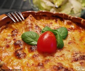 puzzel Gebakken lasagne
