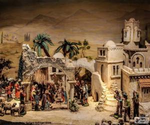 puzzel Geboorte van Jezus in de kribbe
