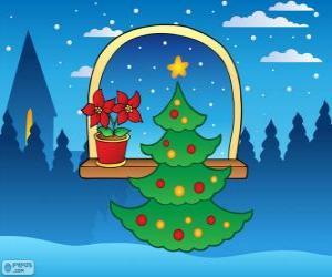 puzzel Gedecoreerde kerstboom
