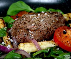 puzzel Gegrilde biefstuk