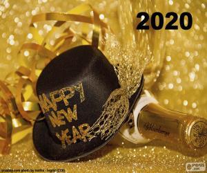 puzzel Gelukkig Nieuwjaar 2020