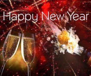puzzel Gelukkig Nieuwjaar
