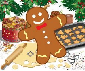 puzzel Gemberkoek man cookie ingericht