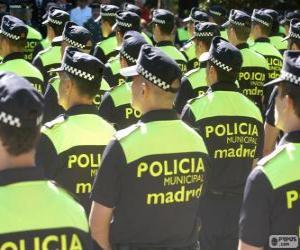 puzzel Gemeentelijke politie, madrid
