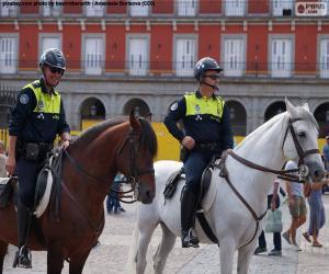 puzzel Gemeentelijke politie te paard, Madrid