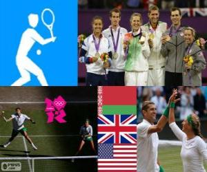 puzzel Gemengd dubbel tennis Londen 2012