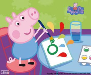 puzzel George begint school