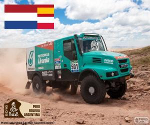 puzzel Gerard de Rooy, Dakar 2016
