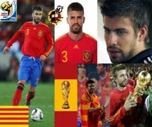 puzzel Gerard Pique (De dandy van Spanje) Spaanse team de verdediging