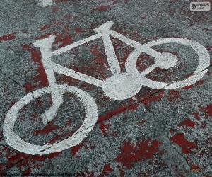 puzzel Geschilderd fiets, signaal