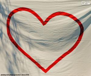 puzzel Geschilderde hart