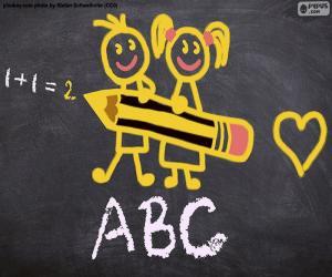 puzzel Gestarte school