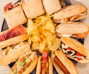 puzzel Gevarieerde Sandwich