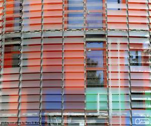 puzzel Gevel Torre Agbar, Barcelona