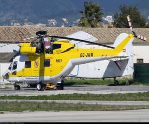 puzzel Geweldig helikopter
