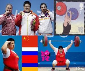 puzzel Gewichtheffen meer dan 75 kg vrouwen Londen 2012