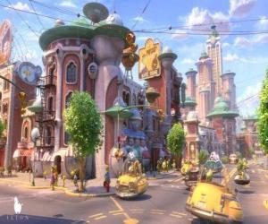 puzzel Gezicht op een straat van Glipforg op Planet 51