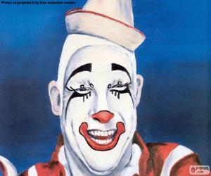 puzzel Gezicht van clown