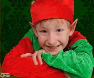 puzzel Gezicht van een Elf van Kerstmis
