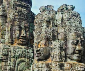 puzzel Gezichten van steen, Angkor Wat