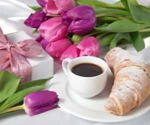 puzzel Giften en ontbijt voor moeder