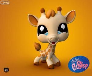 puzzel Giraffe of giraf van de kleinste PetShop