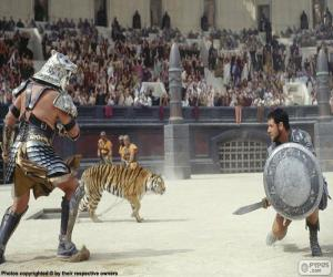 puzzel Gladiatoren gevecht