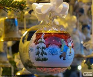 puzzel Glas Kerstmis bal