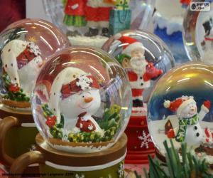puzzel Glas sneeuwballen