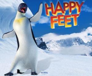puzzel Gloria is een vrouwelijke keizer pinguïn, Mumble is verliefd op Gloria in de film Happy Feet