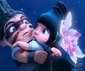 puzzel Gnomeo en Juliet, in een scène uit de film