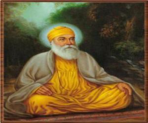 puzzel Goeroe Nanak Dev, oprichter van het Sikhisme