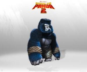 puzzel Gorilla's zijn de spieren in het leger van de Heer Shen