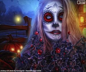 puzzel Gotische Halloween masker