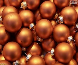 puzzel Gouden bal van Kerstmis