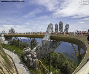 puzzel Gouden brug Da Nang, Vietnam