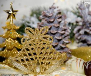 puzzel Gouden kerst bells
