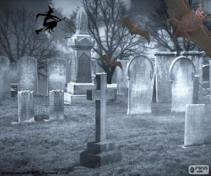 puzzel Graven op het kerkhof, Halloween