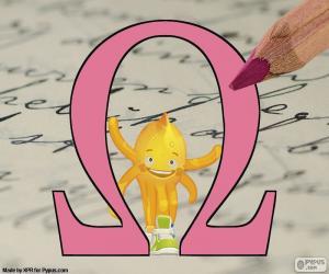 puzzel Griekse letter Omega