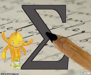 puzzel Griekse Letter Sigma