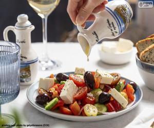 puzzel Griekse salade