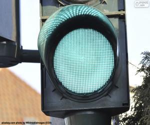 puzzel Groen verkeerslicht