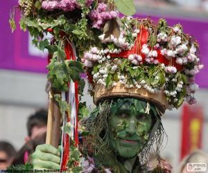 puzzel Groene man, carnaval