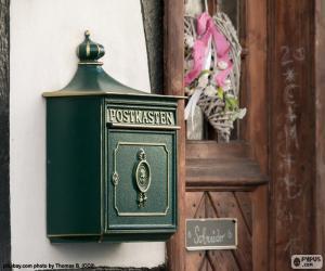 puzzel Groene privé brievenbus