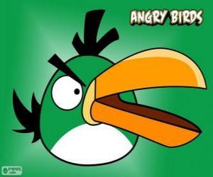puzzel Groene vogel (groene vogel)