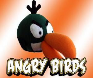 puzzel Groene vogel (groene vogel), vogel met boemerang-effect